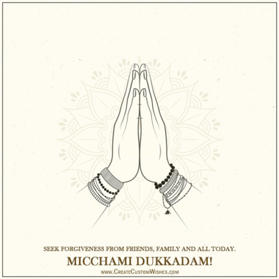 Write Name on Michhami Dukkadam Photo