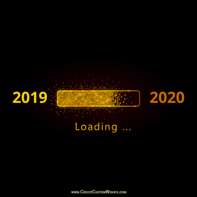 Write Your Thoughts on New Year 2019-2020 Pic