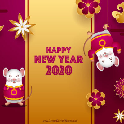 2020 Chinese New Year Greeting with Name