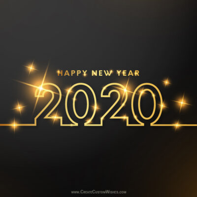 Happy New Year 2020 Image with Name FREE