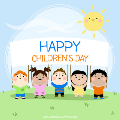 Children's Day Image Editing with Name