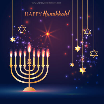 Create Custom Hanukkah Wishes Image