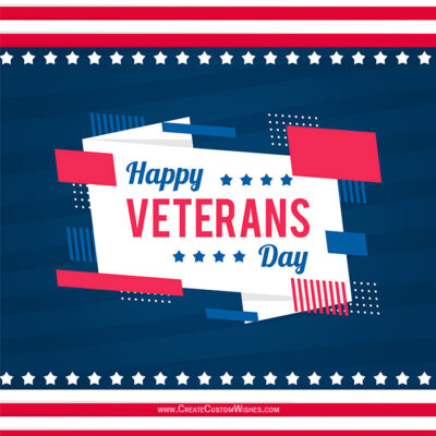 Create Custom Veterans Day Wishes Cards