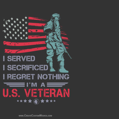 Customise Veterans Day Wishes Cards FREE
