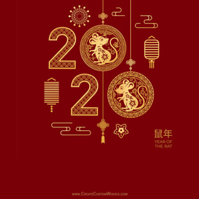 Write Text on Chinese New Year 2020 Image