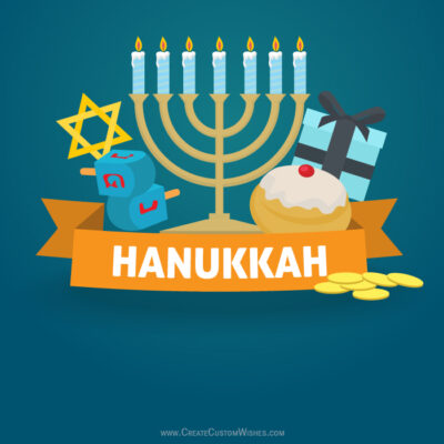 Edit Happy Hanukkah Image with Name