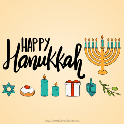 Editing Hanukkah Candle Image with Name