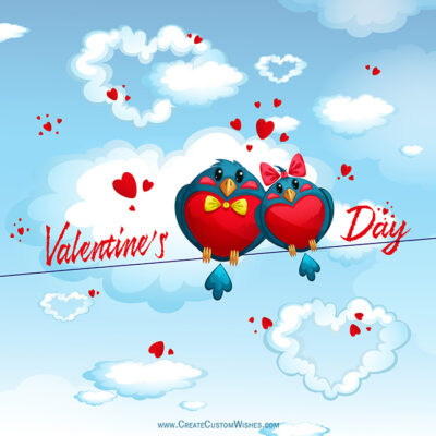 Free Write Your Name on 2020 Valentines day Wishes Cards