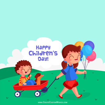 Happy Children's Day Pic with Name