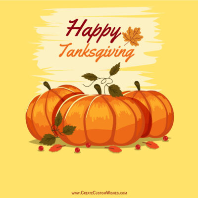 Happy Thanksgiving Day Image with Name