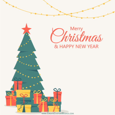 Latest Merry Christmas Tree Image with Name