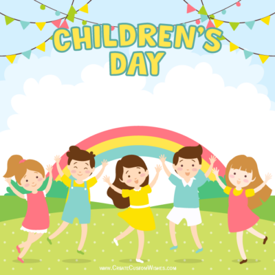 Make Custom Children's Day Wishes Images