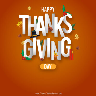 Make Custom Thanksgiving Day Wishes Images