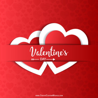 Make Custom Valentines day 2020 Card with Logo