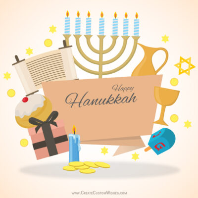 Making Hanukkah Wishes Pic with Name