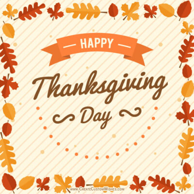 Making Thanksgiving Day Image for Whatsapp