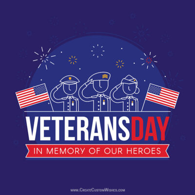 Making Veterans Day Image for Whatsapp DP