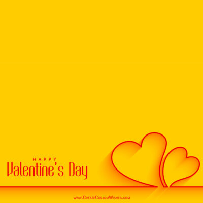 Online Write Your Name on Valentines day Cards