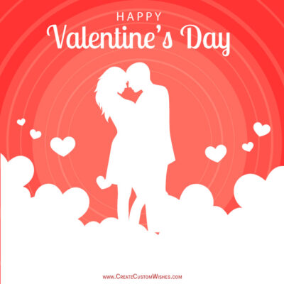 Set Logo Image on Valentines day Greetings Cards