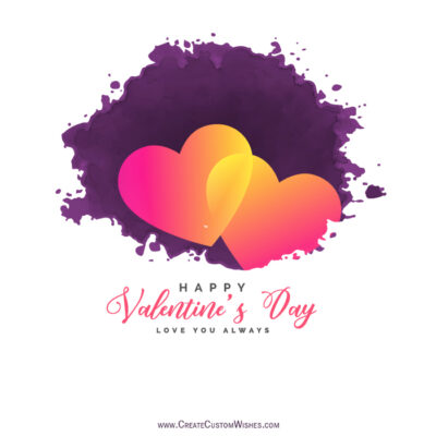Set Your Image on Valentines day Wishes Cards