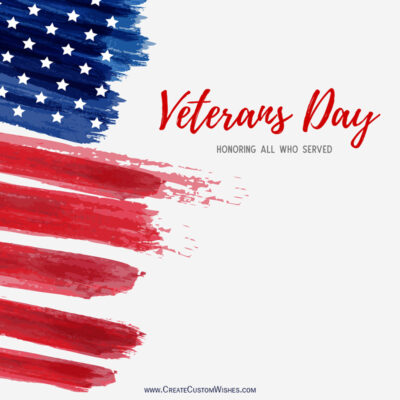 Veterans Day Image Editing with Name