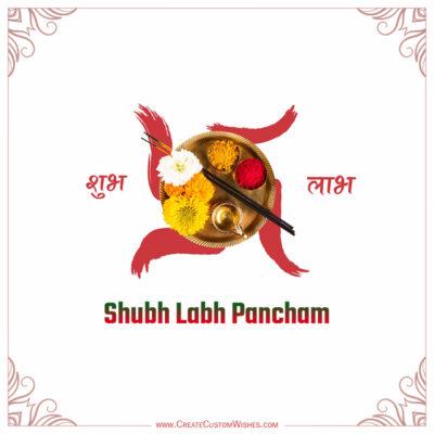Write Name on Labh Pancham 2021 Image