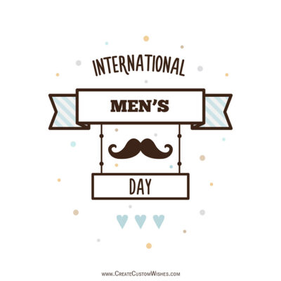 Write Name on Men's Day Wishes Images
