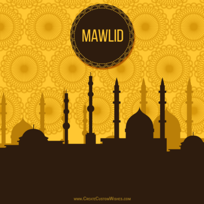 Write Text on Mawlid an Nabi Image