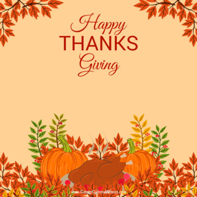 Write Text on Thanksgiving Day Image