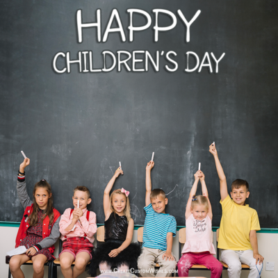 Write Your Name on Children's Day Image