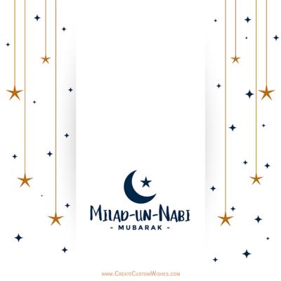 Write Your Name on Milad un Nabi Image