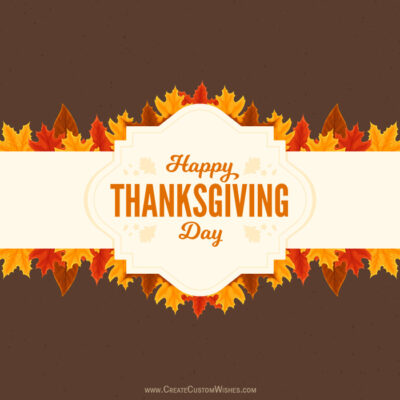 Write Your Name on Thanksgiving Day Image