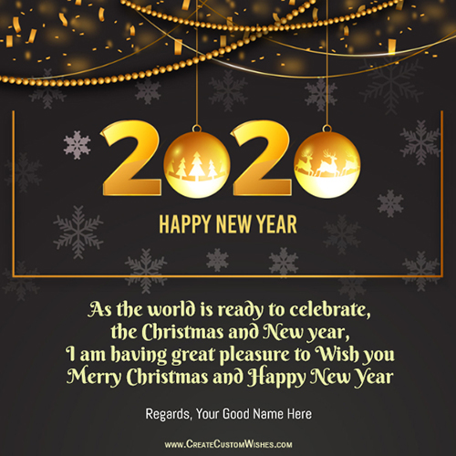 Happy New Year Greeting Card Idea