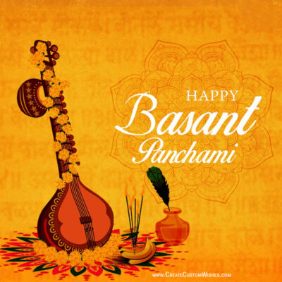 Basant Panchami Wishes Image with Name