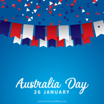 Best Australia Day Wishes Image with Name