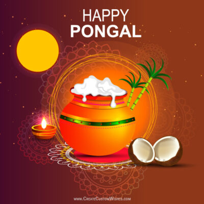 Create Happy Pongal Image for my DP