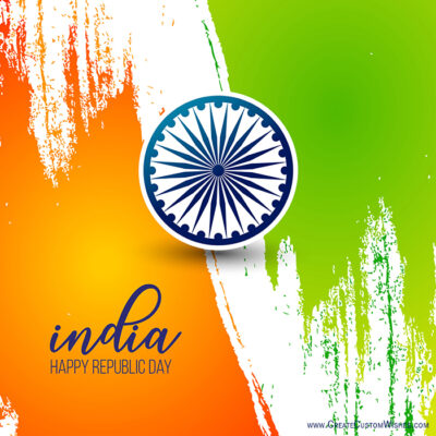 Create Republic Day Image for my DP