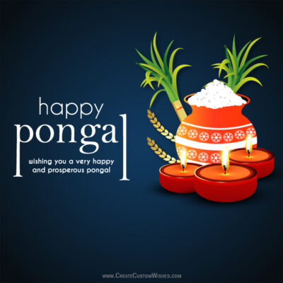 Create Your Own Happy Pongal Wishes Image