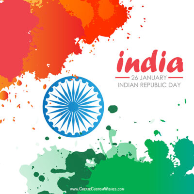 Create Your Own Republic Day Wishes Image