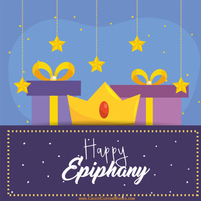 Customise Epiphany Wishes Cards