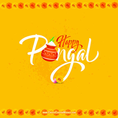 Customise Happy Pongal Wishes Cards
