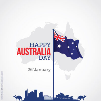 Free Creating Australia Day Wishes Card