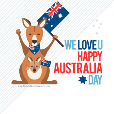 Happy Australia Day Photo with My Name