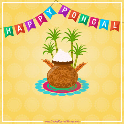 Happy Pongal Image Editing with Name