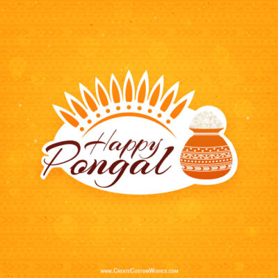 Happy Pongal Pic with Name and Logo