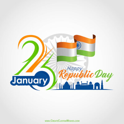 Indian Republic Day Image with Name