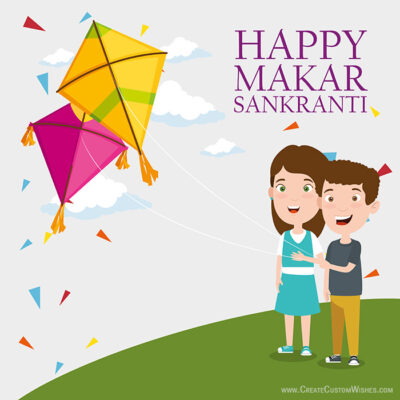 Makar Sankranti Image Editing with Name