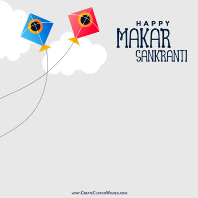 Makar Sankranti Pic with Name and Logo