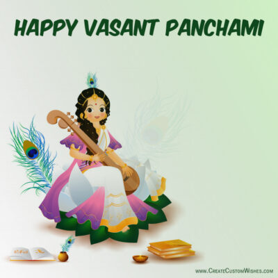 Make Custom Image for Vasant Panchami