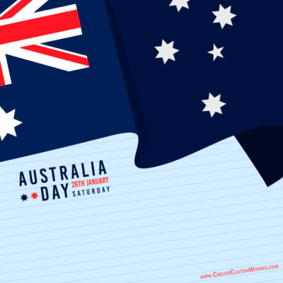 Make custom Greeting card for Australia Day